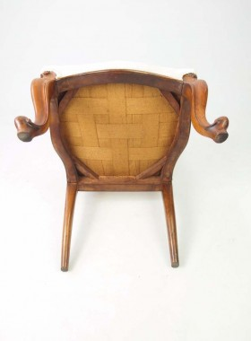 Victorian Walnut Dressing Table Chair
