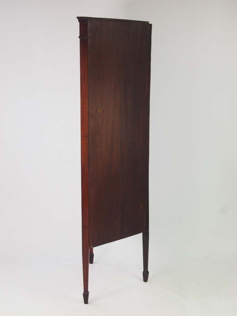 Antique Mahogany Amp Inlaid Standing Corner Cupboard