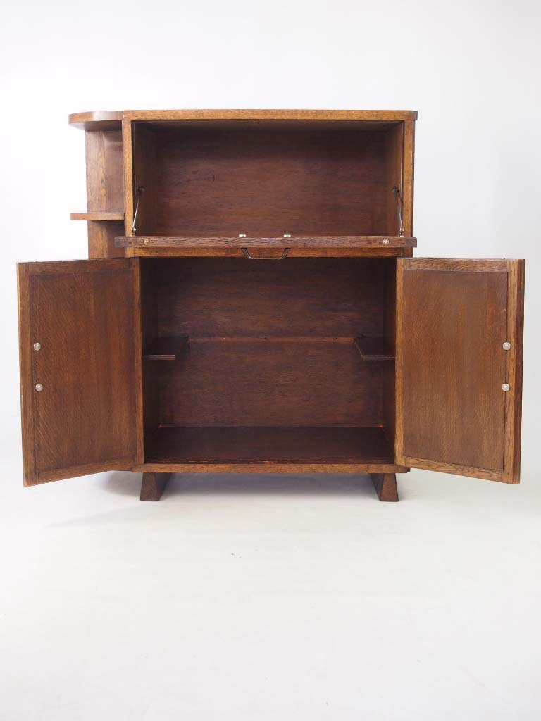 Vintage Art Deco Oak Cabinet