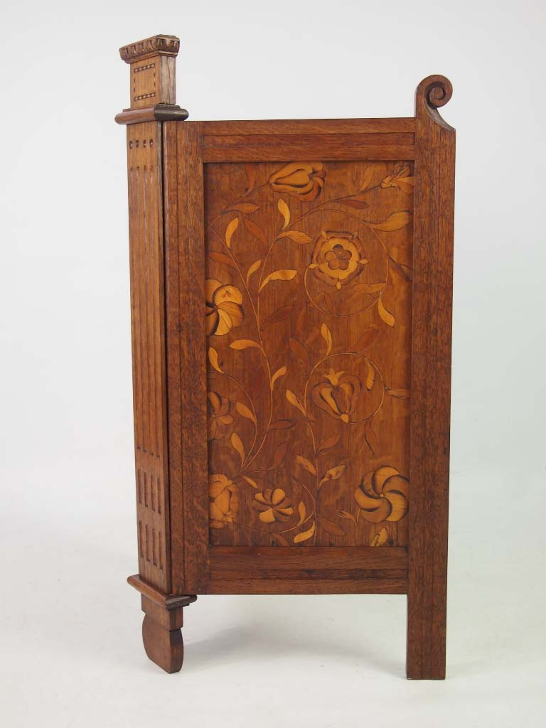 Antique Arts Amp Crafts Oak Firescreen