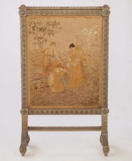 Antique Fire Screen Louis XVI Style