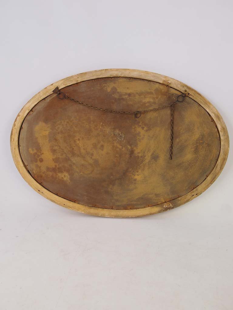 Large Oval Gilt Framed Mirror