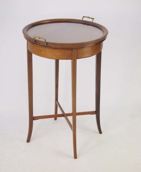 Edwardian Tray Top Butlers Table