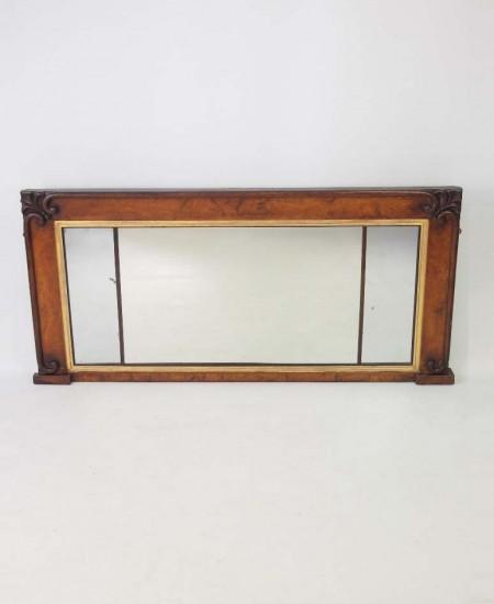 Victorian Walnut Overmantel Mirror