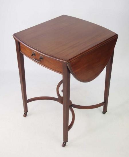 Small Edwardian Mahogany Side Table