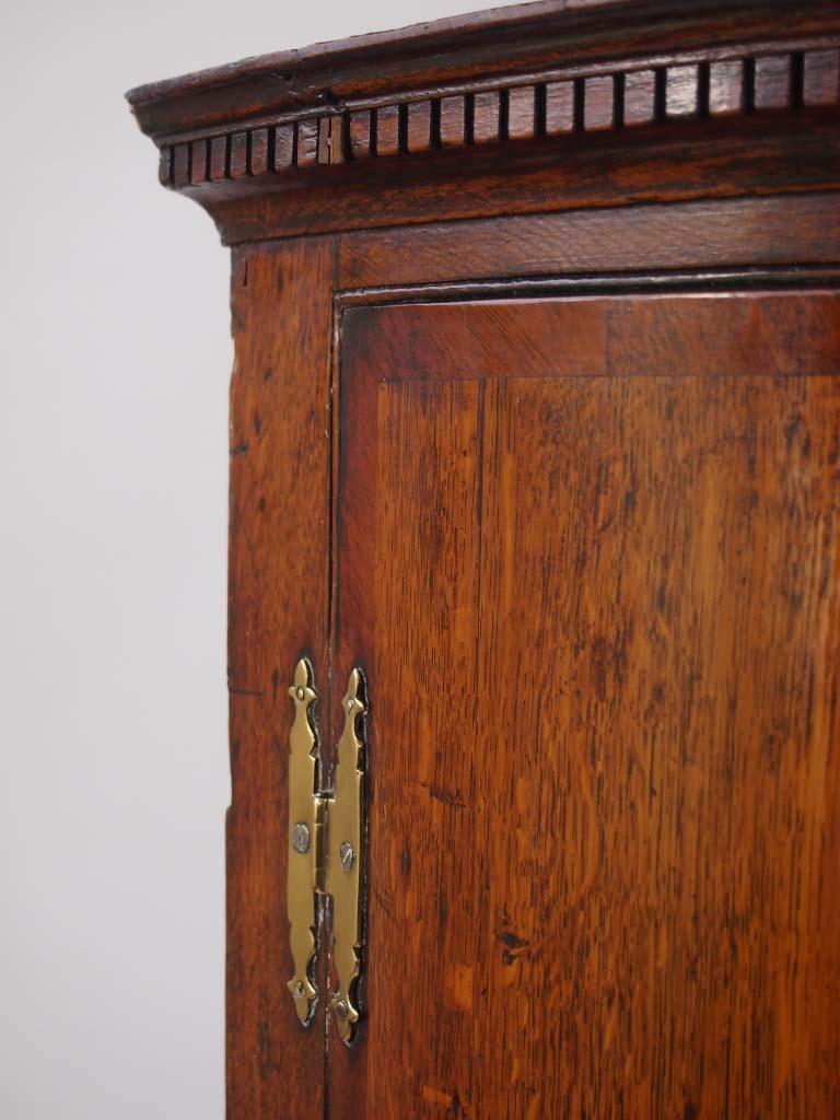 ... Georgian Oak Bow Front Corner Cupboard ...