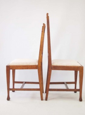His and Hers Oak Arts Crafts Chairs