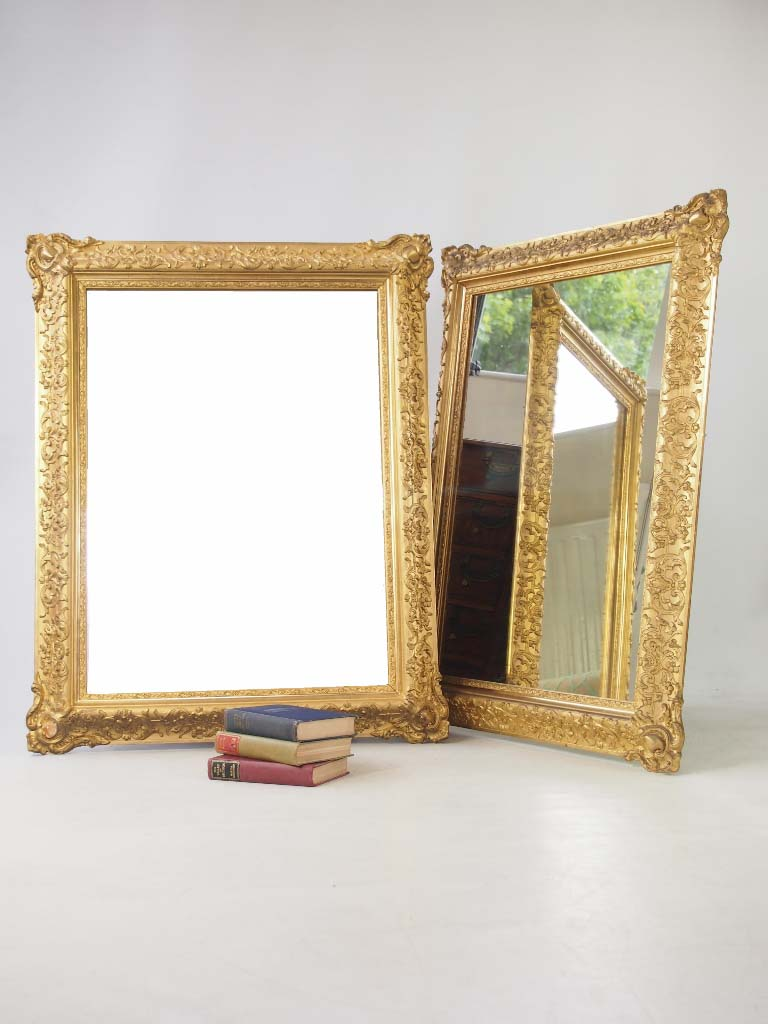 Large Impressive Pair Of Gilt Mirrors