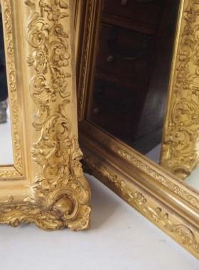 Large Pair Gilt Mirrors