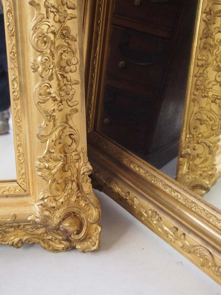 Large Impressive Pair Of Gilt Mirrors