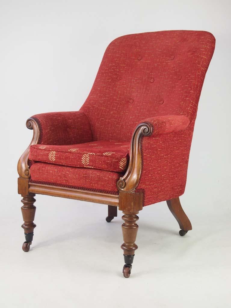 Antique Victorian Mahogany Armchair