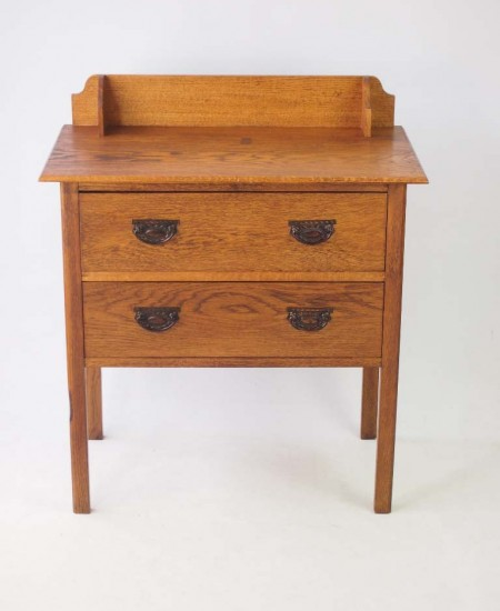 Small Edwardian Oak Chest Drawers