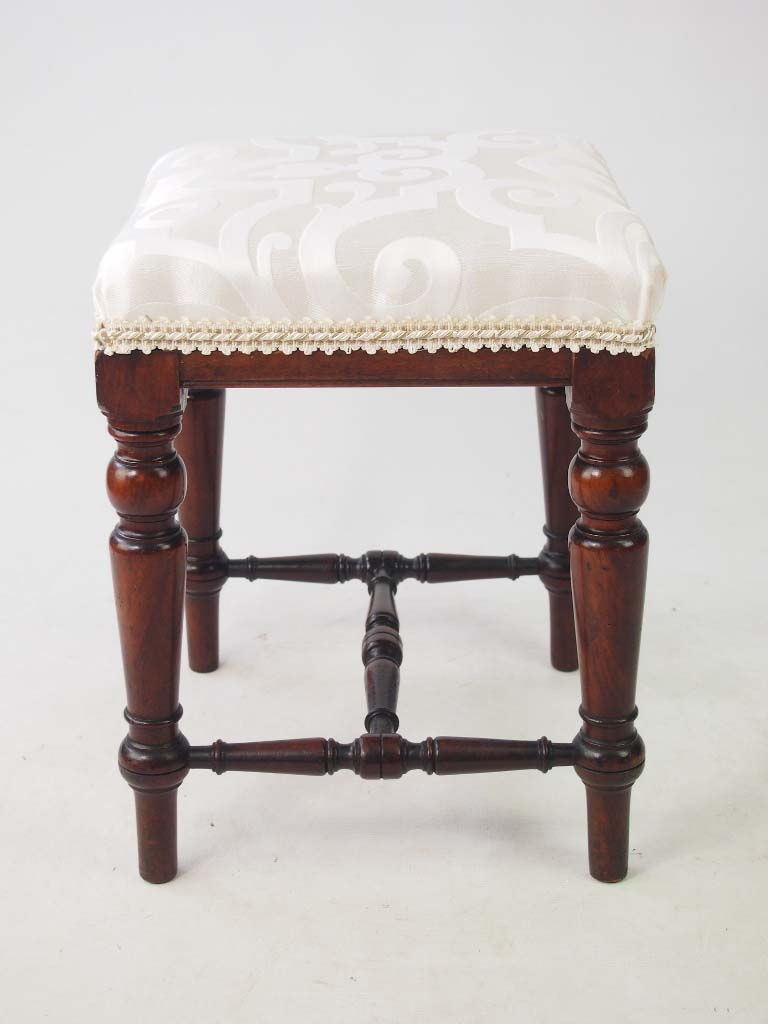 Antique Victorian Mahogany Stool