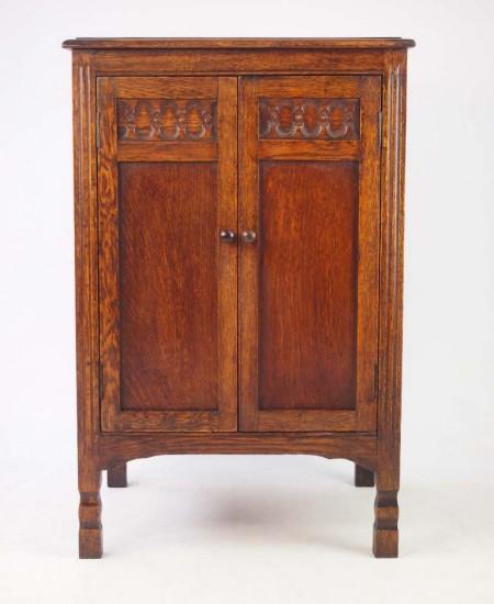 Small Vintage Oak Cupboard