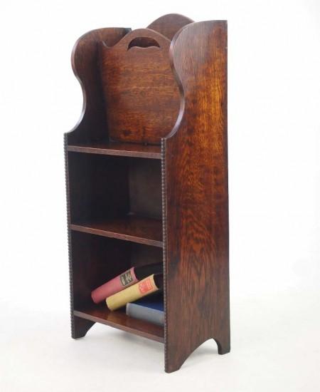 Edwardian Oak Open Bookcase