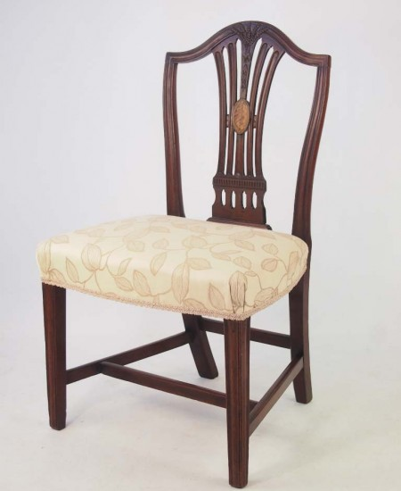 Georgian Mahogany Inlaid desk Chair
