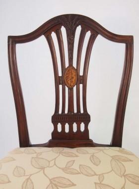 Georgian Mahogany Inlaid desk Chair