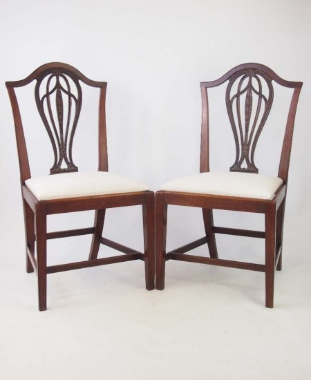 Pair 19th Century Mahogany Side Chairs