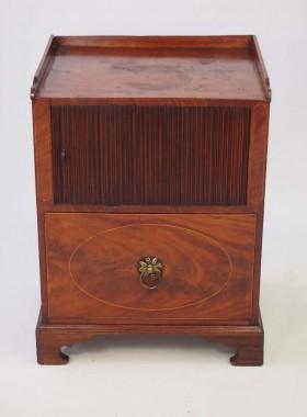 Pair Regency Mahogany Bedside Cabinets