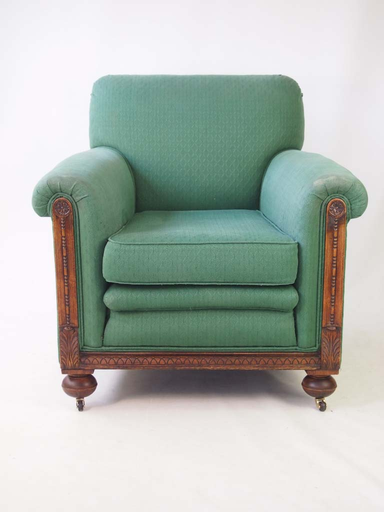 Pair Of Club Armchairs Circa 1920s For Recovering