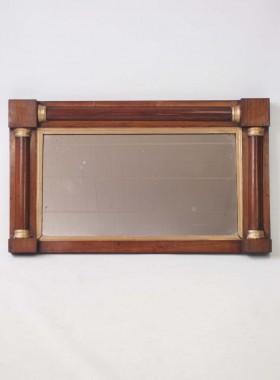 Regency Rosewood Overmantle Mirror