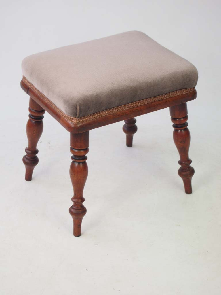 Small Antique Victorian Mahogany Footstool