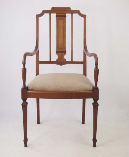 Antique Edwardian Open Armchair