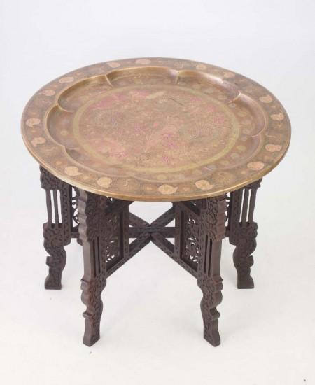Benares Brass Top Table