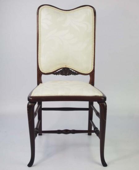 Small Edwardian Mahogany & Inlaid Dressing Table Chair