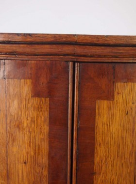Small George III Oak Bow Front Corner Cupboard