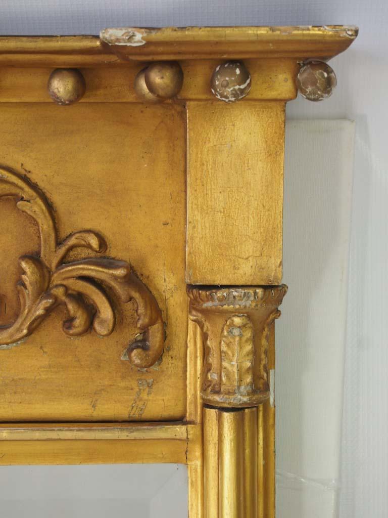 Small Antique Regency Gilt Pier Mirror
