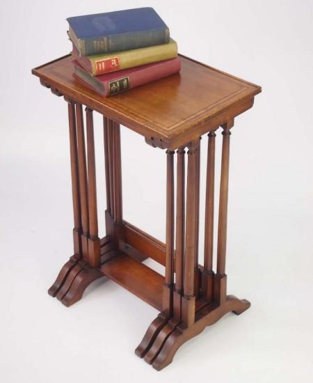Nest of 3 Edwardian Mahogany Tables