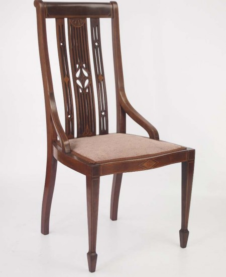 Edwardian Mahogany Dressing Table Chair