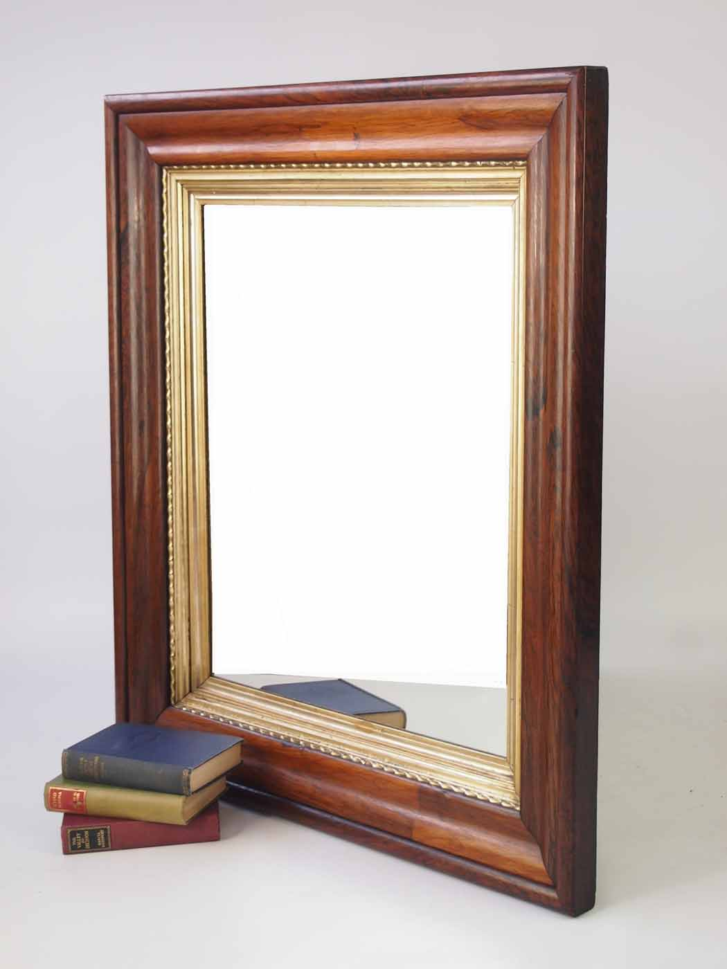 Large Antique Victorian Rosewood Framed Mirror on Wall Mirrors id=25521