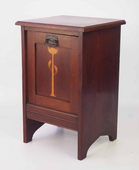 Arts and Crafts Mahogany Purdonium