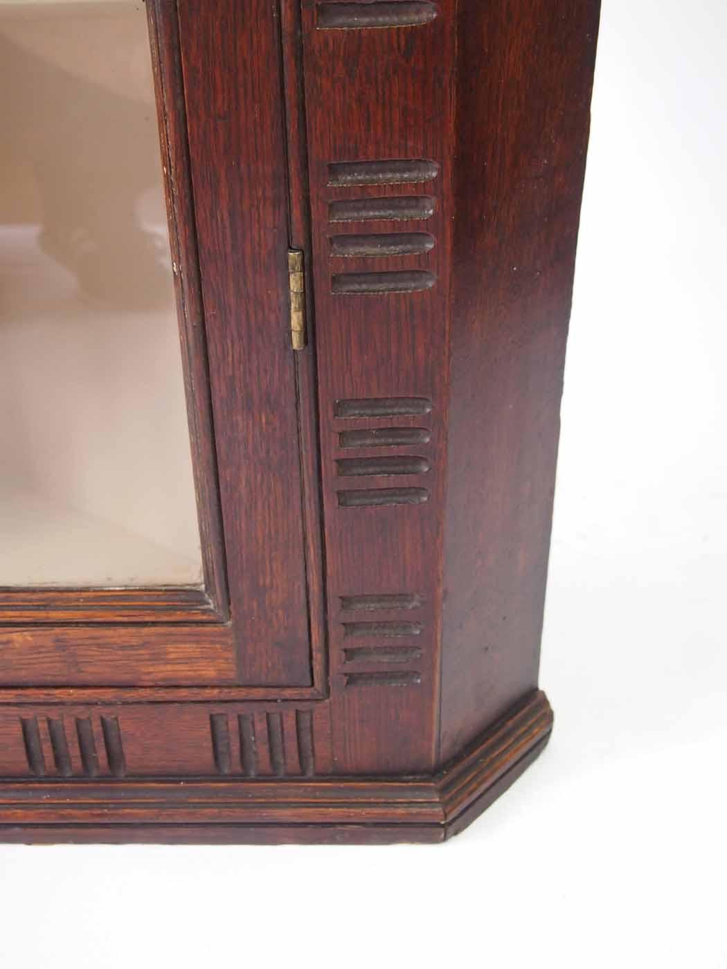 Georgian Oak Corner Cupboard With Astragal Glazed Door