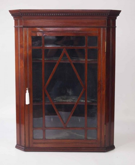 Victorian Mahogany Glazed Corner Cupboard