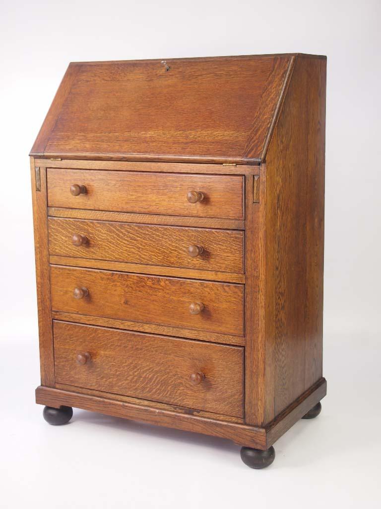 Small Vintage Oak Bureau