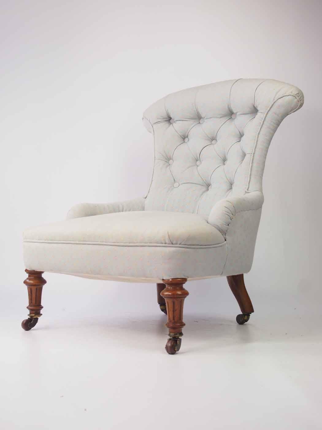 Small Victorian Walnut Nursing Chair