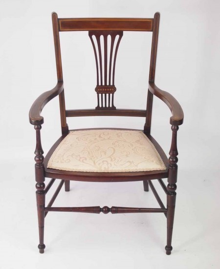 Small Edwardian Bedroom Chair