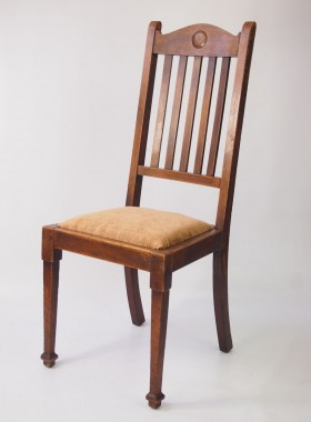 Set of 4 Oak Arts and Crafts Chair