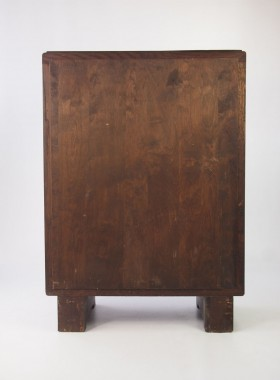 Small art Deco oak Bookcase