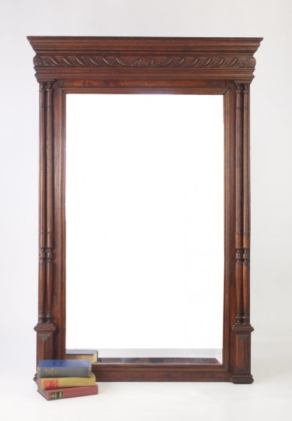 Antique French Overmantle Mirror