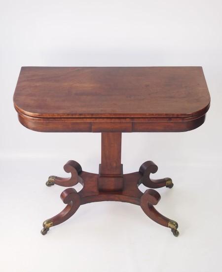 Regency Mahogany Card Table or Hall Table