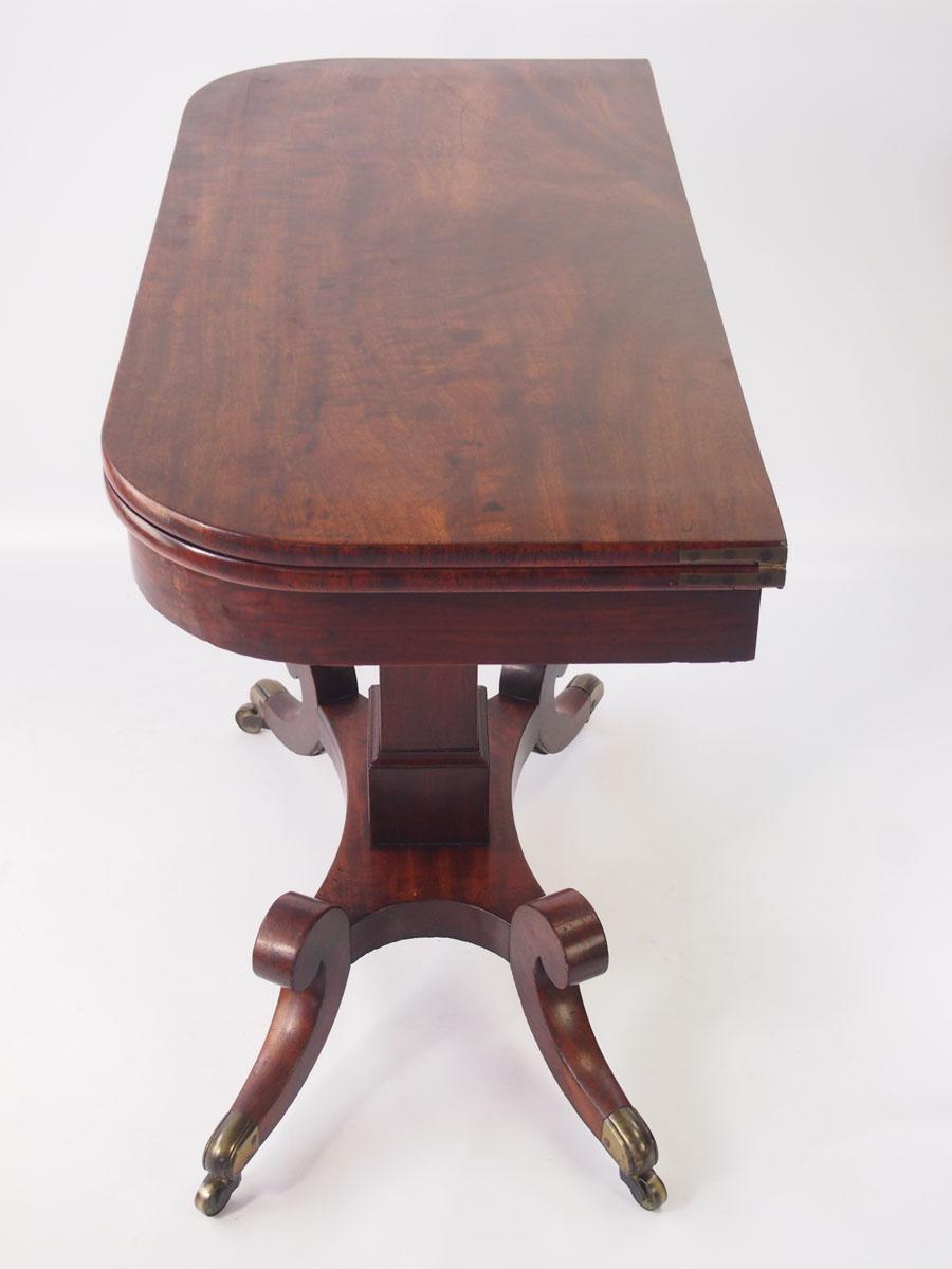 Antique Regency Mahogany Card Table Hall Table