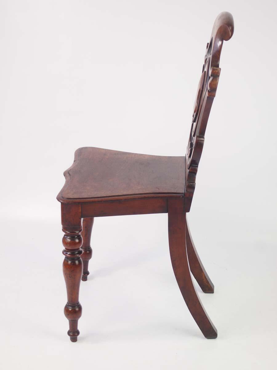 Antique Victorian Mahogany Shield Back Hall Chair