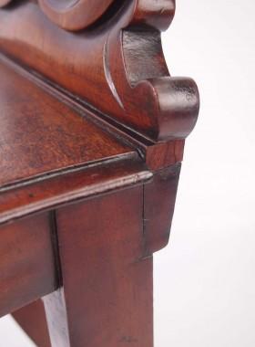 Victorian Mahogany Hall Chair