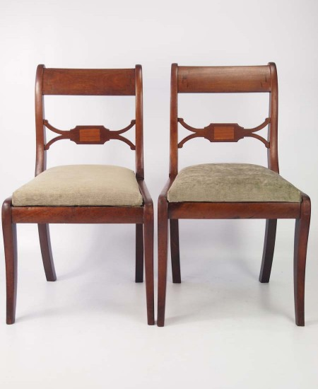 Pair Mahogany Regency Side Chairs