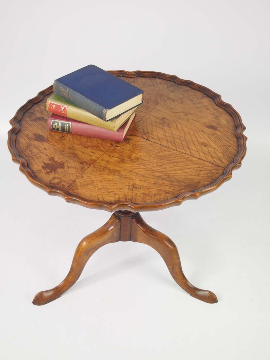 Walnut Tilt Top Coffee Table Circa 1920s