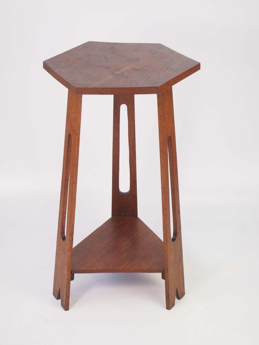Tall Edwardian Oak Arts Amp Crafts Table